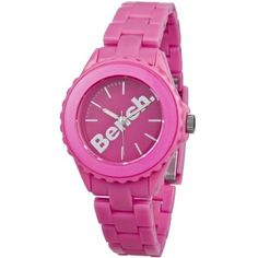 Bench - Ladies Pink Plastic Bracelet Watch - BC0355PK  RRP: £30.00 Online price: £24.00 You Save: £6.00 (20%)  www.lingraywatches.co.uk