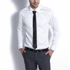 Chemise satinée Homme Blanc, Chemise satinée, manches longues...sur www.shopwiki.fr ! #chemise_homme #vetement_homme #mode_homme