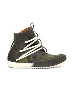 Ninja Leather High-Top Sneaker // Green Camouflage (US: 7)