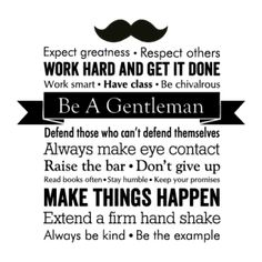 Be A Gentleman Wall Quotes™ Decal | WallQuotes.com