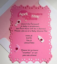 April showers bring may flowers baby shower invitations invsite baby shower invitation i designed april showers bring may filmwisefo