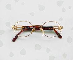bdb3445cc75a FENDI Fendissime Frames eyeglasses   Vintage 90s gold filled sunglasses    oval shaped   designer glasses