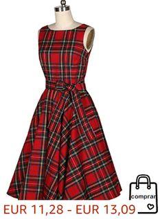 d8c9e7f55 Vestido Sin Mangas De Tela Escocesa Minifalda  faldas  moda  mujer  outfits