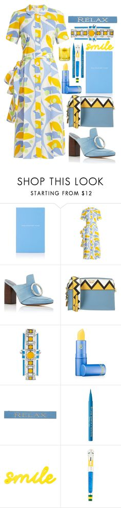 """""""Sunshine and blue sky"""" by sunnydays4everkh ❤ liked on Polyvore featuring Smythson, Miu Miu, Dorateymur, Prada, Sabine Getty, Lipstick Queen, DutchCrafters, Too Faced Cosmetics, Montegrappa and Orla Kiely"""