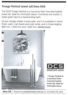 Architectural Product News - DCS Heated Towel Rail.