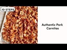 THIS is the authentic pork carnitas recipe you need in your life...NOW! Crispy & caramelized on the outside, so tender it falls apart. Pork Recipes, Cooker Recipes, Crockpot Recipes, Authentic Pork Carnitas Recipe, Mexican Dishes, Mexican Food Recipes, Ethnic Recipes, Slow Cooked Pulled Pork, Tacos