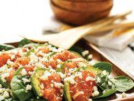 A delicious spinach salad recipe from HGTV Gardens