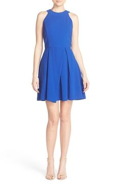 Adelyn Rae Strappy Back Fit & Flare Dress