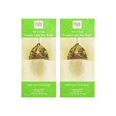Rishi Loose Leaf Tea Filter Bags, 100 Count (Pack of Rishi Tea, Leaf Filter, Tea Infuser, Loose Leaf Tea, Bag Making, Make It Yourself, Count, Link, Check