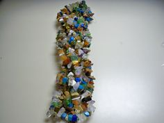 """Natural Mixed Chip Stones- One 34"""" Strand - By Elva: http://www.outbid.com/auctions/17692-supplies-for-creations#15"""