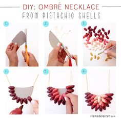 Cómo hacer un collar de moda con pistachos  #diy #handmade #moda