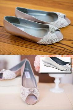 Lace Wedding Shoes Wedge Heel Embellished With By Beccaandlouise 11800 These Look Great And