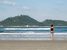 Praia do Campeche em Florianópolis - Brasil Praia de surf, também ótima para banhistas.