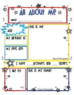 Star Student - All About Me Worksheet - Mrs Terpstra - TeachersPayTeachers.com