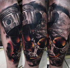 Skull Tattoo by Timur Lysenko | Tattoo No. 12681