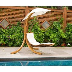 Leisure Season Medium Brown Porch Swing Canopy at Lowe's. Double the function, triple the pleasure with a combination hammock and lounge chair in one.Imagine a hammock and lounge chair combined! Patio Swing, Hammock Swing, Swing Chairs, Backyard Hammock, Sloped Backyard, High Chairs, Patio Chairs, Adirondack Chairs, Backyard Landscaping
