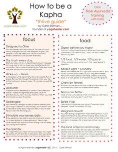 How to Thrive for Vata, Pitta, & Kapha Yogahealer - Ayurveda Ayurvedic Healing, Ayurvedic Diet, Ayurvedic Recipes, Ayurvedic Medicine, Natural Medicine, Natural Healing, Holistic Medicine, Ayurvedic Therapy, Holistic Healing