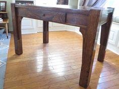Antique oak library table rehab