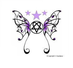 Heartagram Butterfly by Burnthewood.deviantart.com on @deviantART