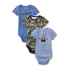 Magic Years Newborn Boy's 3-Pack Bodysuits - Cars