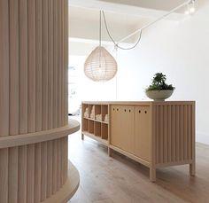 Hecker Guthrie 'Move Yoga Studio Melbourne' - timber dowel detail