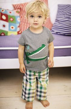 Mini Boden Animal Appliqué T-Shirt (Baby Boys) | Nordstrom