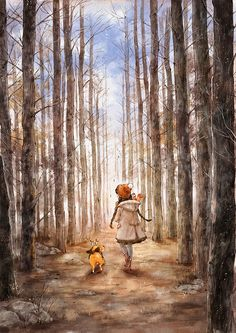 Imagen de diary, dog, and forest