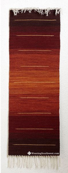 Your Daily Dose of Inspiration! Strata Runner by Pat Dozier, hand-dyed wool. Enjoy!