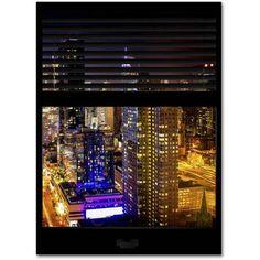 """Trademark Fine Art """"Window View Manhattan Night 6"""" Canvas Art by Philippe Hugonnard"""