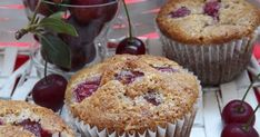 Meggyes-diós muffin Muffin, Breakfast, Food, Morning Coffee, Essen, Muffins, Meals, Cupcakes, Yemek