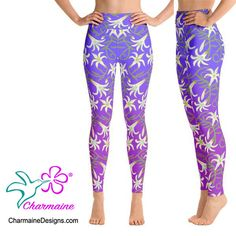 Super soft, stretchy and comfortable yoga leggings. Spandex Material, Polyester Spandex, Printed Yoga Pants, White Lilies, Yoga Leggings, Pants For Women, Tights, Pajama Pants, Lily