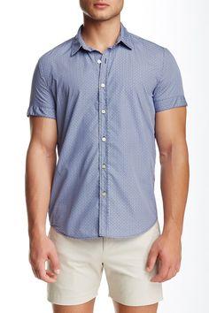 Biscayne Printed Short Sleeve Slim Fit Shirt