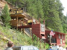 Deadwood, SD - Broken Boot Gold Mine where you can tour the old mine and pan for gold