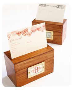 Recipe boxes from Suzy Jack!