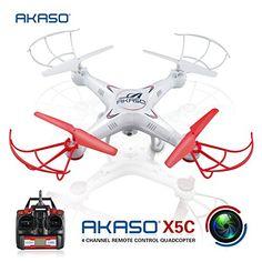 AKASO X5C 4CH 2.4GHz 6-Axis RC Quadcopter with HD Camera, Gyro Headless, 360-degree 3D Rolling Mode 2 RTF RC Drone ( Bonus MicroSD card & Blades Propellers included ) AKASO http://www.amazon.com/dp/B012SSR374/ref=cm_sw_r_pi_dp_KLjuwb1WT2EKW