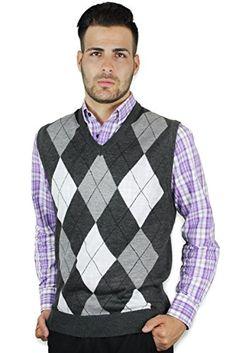 Blue Ocean Men's Argyle V-Neck Sweater Vest (X-Large, Grey-White) Blue Ocean http://www.amazon.com/dp/B00EDUDZIM/ref=cm_sw_r_pi_dp_e-7iub0HP07Z3