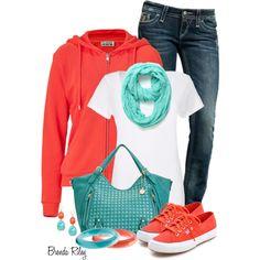 Hoodie, Jeans & Sneakers, created by brendariley-1 on Polyvore