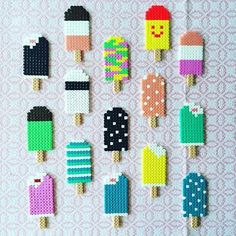Billedresultat for perler beads pattern popsicle