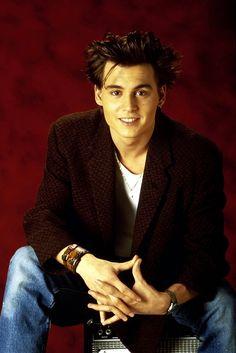"90sclubkid: "" Johnny Depp, 1987 """