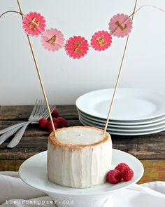 Coconut Flour Birthday Cake  @The Urban Poser