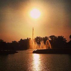 E assim o sol se pôs no Parque Ibirapuera hoje!  Foto: @bcreporter