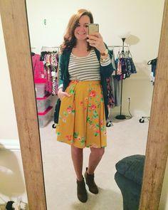 LuLaRoe Madison, booties, cardigan, pattern mixing
