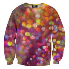"""Bokeh Sweatshirt Unisex - this reminds me of Christmas lights and would make a fun sweatshirt to wear for the Holidays next year.  You've heard of the """"Ugly Sweater Contest"""" ...maybe your family could  start a contest for the most unique sweatshirt!"""