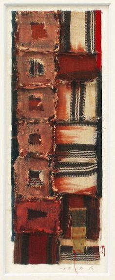 Archipelago-1995(6-5)The original portfolio by Collage works used Okinawan antique fabricsHAYASHI Takahiko 1995furnished data by Gallely SINCERITE