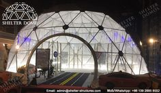 10m PVC geodesic dome tents for opening ceremonies - Pop up dome buildings - Steel dome tents with transparent front - Event dome tents for sale - Highly wind resistant dome structures - Shelter Dome (1)