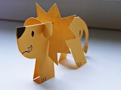 DIY Freebie Papier Löwe | Paper Lion Crafts