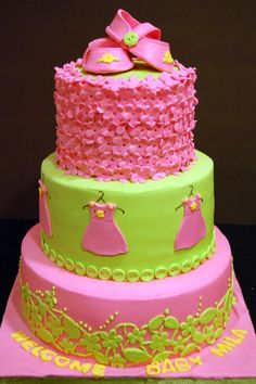 Twinkle toes baby shower cake