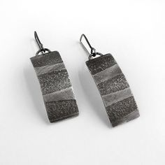 Tidal Earrings by Jane Pellicciotto: Silver Earrings available at…