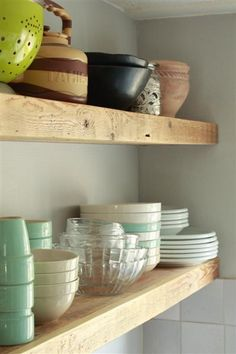 Like these thick wooden shelves