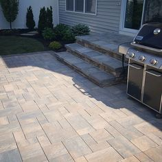 Make your neighbors jealous with Cambridge steps!  Installation: Design And Build Landscape